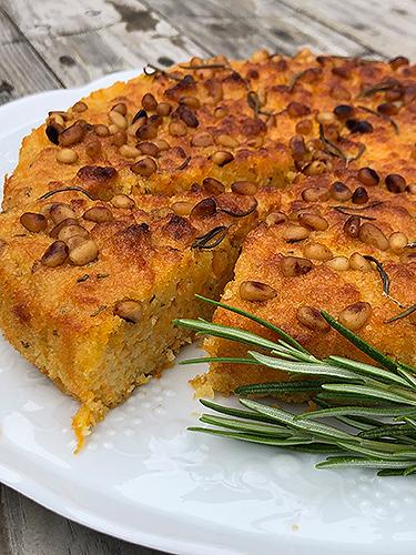 Carrot cake with rosemary & orange