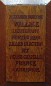 Alexander Moultrie Wallace - St. Edward's plaque