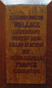 Alexander Moultrie Wallace - St. Edward's plaque