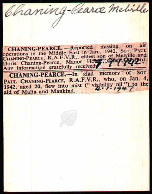 Chaning-Pearce press notice