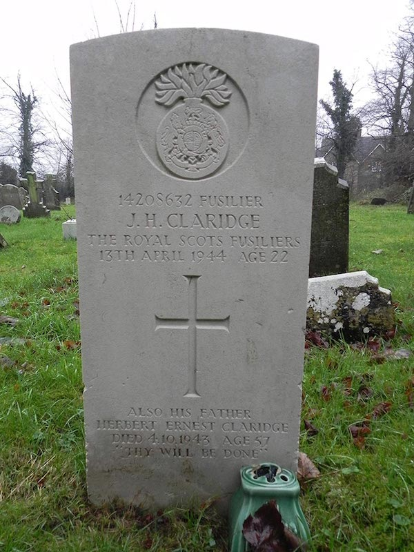 Claridge headstone